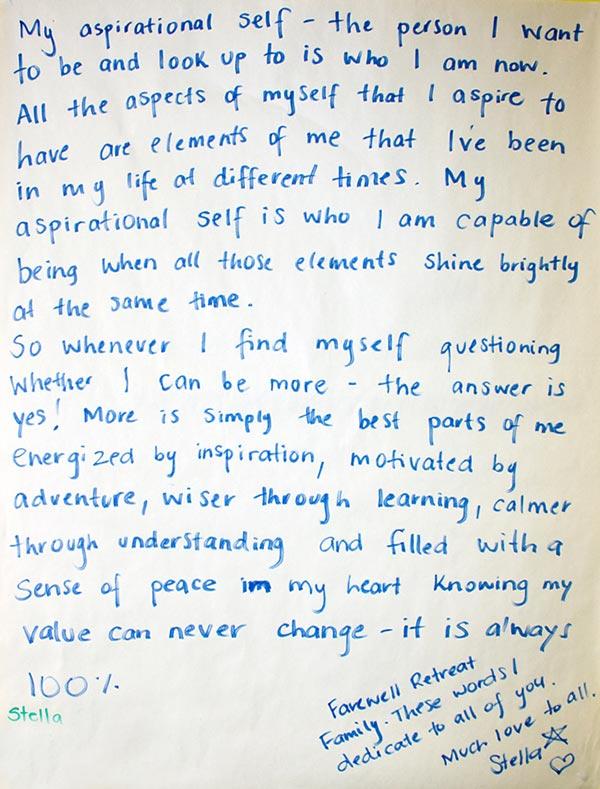 Stella handwritten testimonial